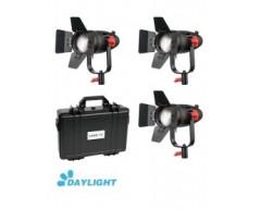 Kit 3x CAME-TV Boltzen 30w Fresnel Fanless Focusable Led Daylight