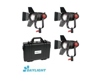 Kit 3x CAME-TV Boltzen 30w Fresnel Fanless Focusable Led Daylight