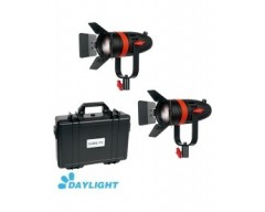 Kit 2X CAME-TV Boltzen 55w Fresnel Focusable Led Daylight