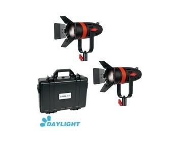 Kit 2X CAME-TV Boltzen 55w Fresnel Focusable Led Daylight