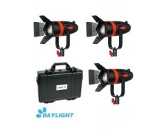 Kit 3X CAME-TV Boltzen 55w Fresnel Focusable Led Daylight