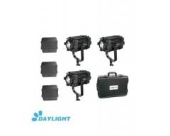 Kit 3X CAME-TV Boltzen 60w Fresnel Fanless Focusable Led Daylight