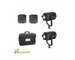 Kit 2X CAME-TV Boltzen 60w Fresnel Fanless Focusable Led Bi-Color
