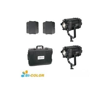 Kit 2X CAME-TV Boltzen 60w Fresnel Fanless Focusable Led Bi-Color