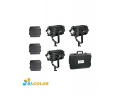Kit 3X CAME-TV Boltzen 60w Fresnel Fanless Focusable Led Bi-Color