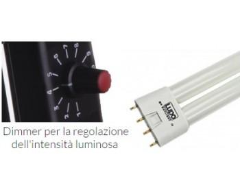 Lupo COD 099 Starlight Dimmer 2x55w Completo diAlette Staffa Lampadde Speciali Lupo LIGHT (5400K o 3200K)