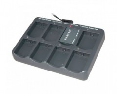 Eartec Multi-Port Charging Base with Adapter for 8 Batteries