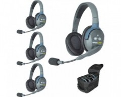 Eartec UL4D UltraLITE 4-Person Headset System with Batteries, Charger & Case (Double)