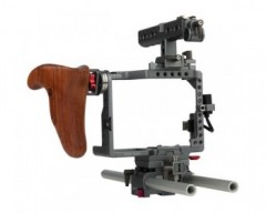 Tilta ES-T37-A Panasonic GH4 and GH5 Handheld Camera Cage Rig w/ Wooden Handle