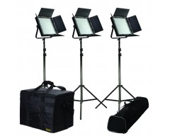 kan IFD1024-KIT Kit with 3 x IFD1024 Lights w/ AB and V-Mount Plates