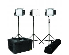 Ikan IFD576-KIT-CH Kit with 3 x IFD576 LED Studio Lights and Chimera Soft Boxes
