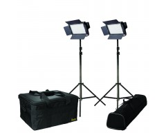 Ikan IFD576-2PT-KIT Kit with 2 X IFD576 Lights w/ Gold and V-Mount Plates