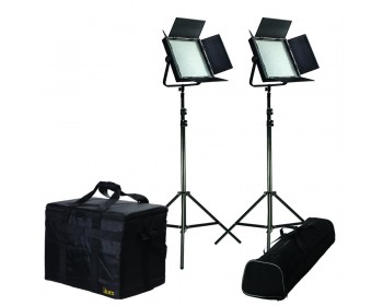 Ikan IFB1024 2PT-KIT Kit with 2 x IFB1024 Lights w/ AB and V-Mount Plates