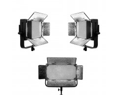 Ikan IDMX1500-3PK Studio Light w/Touchscreen w/DMX Control (3Pack)
