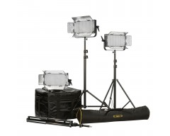 Ikan ID500-PLUS -3PT-KIT Kit with 3 x ID500-v2 Lights, Yokes, and Gold Mounting Plates
