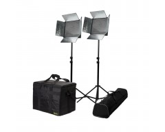 Ikan ID1000-Plus-3PT-KIT Kit with 3 x ID500-v2 Lights, Yokes, and Gold Mounting Plates