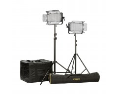 Ikan ID1000-Plus-2PT-KIT Kit with 2 x ID1000-v2 Lights, Yokes, and Gold Mounting Plates