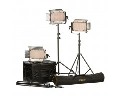 Ikan IB500-PLUS-3PT Kit with 3 x IB500 Lights, Yokes, and Gold Mounting Plate