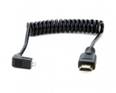 Atomos ATOMCAB007 Right-Angle Micro to Full HDMI Coiled Cable (30 cm)