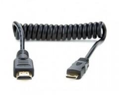 Atomos ATOMCAB008 Full to Mini HDMI Coiled Cable(30 cm)