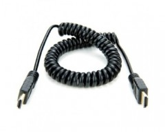 Atomos ATOMCAB011 Full HDMI to Full HDMI Coiled Cable (50 cm)