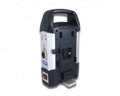 BLUESHAPE CVTR2 Travel charger for Vlock batteries with auxiliary output. Charges 2 batteries sequentially at 4A/channel