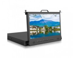 "Neway 17.3"" 1RU Pull-out IPS Rack 1U Mount Monitor SDI and HDMI"