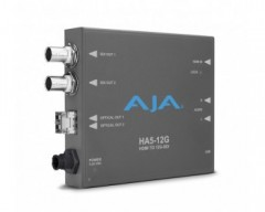 AJA 12G-SDI to HDMI 2.0 Converter with Fiber Receiver