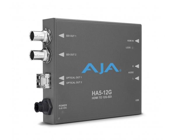 Aja 12g Sdi To Hdmi 2 0 Converter With Fiber Receiver