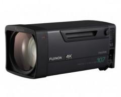 "Fujinon UA107X8.4BESM 4K broadcast zoom box lens with 2/3"" B4 mount, 107x zoom"