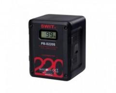 Swit PB-S220S Batteria V-Mount Li-Ion 220Wh, Max Out 150W 12A, 4xD-Tap 1xUSB