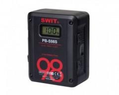 Swit PB-S98S Batteria V-Mount Li-Ion 98Wh, Max Out 100W 8A, 2xD-Tap 1xUSB