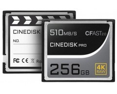 CINEDISKPRO 256GB CFast 2.0 Memory Card 4K RAW