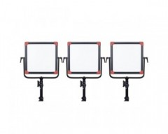 Swit PL-E60 Kit3 Bi-Colour Portable SMD Panel LED Light - 60W With V- Mount Battery Plate