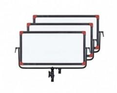 Swit PL-E90 Kit3 90W Bi-colour Panel LED Light With V- Mount Battery Plate