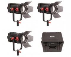 CAME-TV 3 Pcs Boltzen 100w Fresnel Focusable LED Daylight Kit