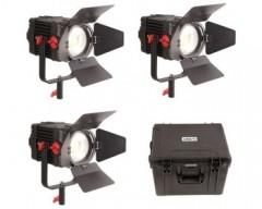 CAME-TV 3 Pcs Boltzen 150w Fresnel Focusable LED Daylight Kit
