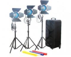 CAME-TV 3×650 Tungsten Fresnel Light Spot Video Studio Continuous Light