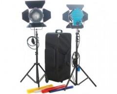 CAME-TVDimmer+ 2pcs 1000W Fresnel Tungsten Spot Lighting + Hard Bag