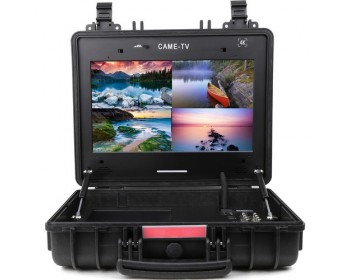 CAME-TV Portable Case 4K 17 Inch Monitor with 4*3G-SDI
