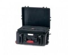HPRC HPRC2600WBAGBLK valigia in resina leggera,stagna e indistruttibile, personalizzabile, completa di ruote