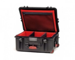HPRC HPRC2700WSFDBLK valigia in resina leggera,stagna ,indistruttibile, personalizzabile, completo di ruote.