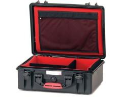 HPRC HPRC2550SFDBLK valigia in resina leggera,stagna e indistruttibile, personalizzabile e completa di ruote.