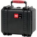 HPRC HPRC2550WCUBBLK valigia in resina leggera,stagna e indistruttibile, personalizzabile e completa di ruote.