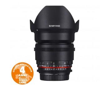 Samyang 16mm T/2,2 VDSLR ED AS UMC è un obiettivo super-grandangolare