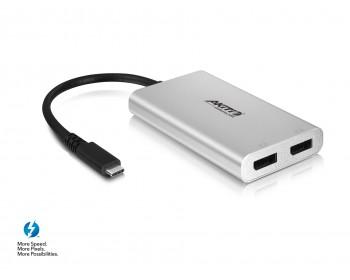 AKiTio Thunder3 to Dual DisplayPort Adapter (Mac & Windows) *New