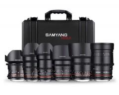 Samyang VDSLR Lens Kit comprensivo di 6 obiettivi Canon EF Mount e custodia personalizzata