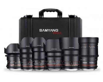Samyang Cine DS 6 Lens Kit con Canon EF Mount