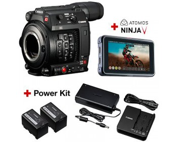 Canon EOS C200 + Atomos Ninja V Power kit