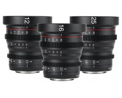 Meike Mini Cinema Prime Lens Set Micro 4/3 Mount 3 Lens Set (12+16+25mm)